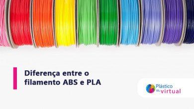 Foto de Veja a diferença entre o filamento ABS e PLA